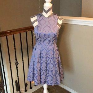 Gianni Bini Floral Print Pleated Dress